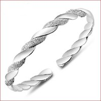 Wholesale chinese alloy bangle resale online - 925 Sterling Silver Bangles For Women Men Open Hand Jewelry Bohemian Fashion Bracelet Chinese Style Adjustable High Quality Freeshipping YD0