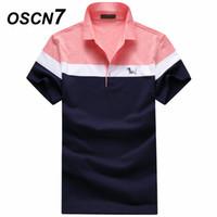 ingrosso maniche corte a maniche corte-OSCN7 Plus Size shirt manica corta estate business casual Homme Fashion Camisas formali