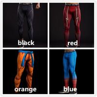 ingrosso collant capitano americano-Pantaloni collant a compressione con motivo stampato 3D Pantaloni da uomo Pantaloni tuta Captain America Fitness Leggings skinny Pantaloni Uomo