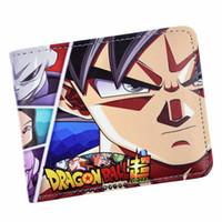 z billetera al por mayor-Nueva llegada Dragon Ball Z Wallet Anime Dragon Ball Super Broly Billetera para hombre con bolsa de monedas Cremallera Monederos Monedero corto