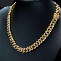 ingrosso grande collana della catena della corda dell'oro-Vendita calda dei monili alla moda Catena esagerata grande della corda della collana dell'oro hipo adatto per gli uomini forti Collana variopinta della collana del girocollo