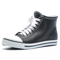 düşük tuval çizmeleri toptan satış-Lastik Yağmur Ayakkabı Koreli Düşük topuklu Su geçirmez Tuval Ayakkabı Su Yaz Kadın Rain Boots Kadınlar Boots Kış 35-43