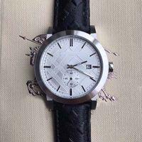 Wholesale unique style watch for sale - Group buy New Desigh MM British Style Dress Silver Unique Case Mens Watches Quartz Battery Men Watch Black Leather Strap Wriswatches