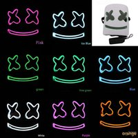 pvc props großhandel-DJ Marshmello Maske Vollgesichts Kostüm Carnaval Halloween Prop Latexmasken Kopfschmuck Zubehör High-End-Kopfbedeckungen Kinder Spielzeug