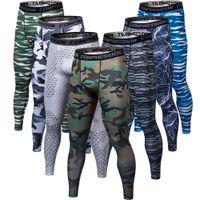 камуфляжные штаны для фитнеса оптовых-3d печать камуфляж фитнес в то время как бегуны компрессионные брюки мужские брюки бодибилдинг леггинсы для мужчин C19041901