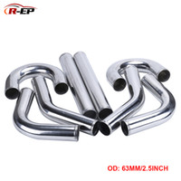 Wholesale universal intake piping resale online - R EP Universal Air Intake Pipe mm inch Aluminum Tube for Racing Car Intercooler Air Intake Degrees L S Type