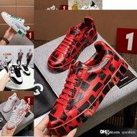 größe 13 sneakers großhandel-KörbeDolcegabbanaWeiß Schwarz DGLeder Damen Sneakers Weiß Schwarz Leder Größe Eur 38 39 40 41 42 43 44