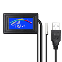 Wholesale digital thermometers for indoors for sale - Group buy Ketotek usb Thermometer LCD Digital Pointer Car Water Temperature Meter Gauge C F MOD for Computer PC Aquarium Boilers