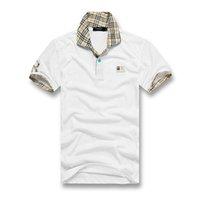 short sleeve polo shirt оптовых-горячая французский крокодил мужской поло 100% хлопок повседневная футболка крокодил вышивка логотип лето с коротким рукавом мужская рубашка поло
