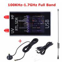 handy-tuner großhandel-Freeshipping mini voller Band-UV-HF-RTL-SDR USB-Digital-TV-Tuner-Empfänger 100KHz-1.7GHz / R820T + 8232 Amateurfunk mit Antenne für Telefon P