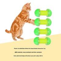 12 chats plastiques achat en gros de-12 Pcs En Plastique Petit Chat Pet Son Jouet Chat Toyspet Interactive Balle De Jeu Jouets Avec Petite Cloche Chat Produits