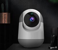 cámara ip wifi mp al por mayor-AI Wifi Camera 720P 1080P Cloud Wireless AI Wifi Cámara IP Seguimiento automático inteligente de la vigilancia de seguridad del hogar humano CCTV Red Cam