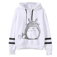 vogue pullover groihandel-kawaii Frauen-nette Hoodies Frauen harajuku Langarm-Kapuzen Cartoon Printting Sweatshirts Tops vogue Prinzessin Totoro drucken