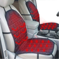 Wholesale free car seat covers for sale - Group buy 12V Heated Car Seat Cushion Cover Seat Heater Warmer Winter Household Cushion cardriver heated