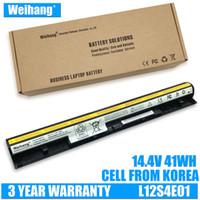 2900mAh Weihang Korea cell L12S4E01 battery for Lenovo IdeaPad G400s G405s G410s G500s G505s G510s S410p Z710 S510p L12L4A02