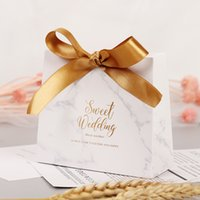 Wholesale sweets bags for weddings for sale - Group buy Handbag Shape Marble Paper Candy Box Sweet Wedding Favors Gift Box Packaging With Ribbon Paper Bags For Gifts Party Supplies