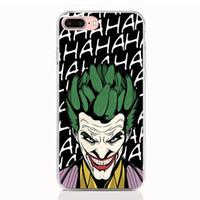telefon kutuları galaksi çekirdeği toptan satış-Samsung Galaxy A30 için A70 A50 A40 A10 A2 Çekirdek Not 9 8 7 5 4 kılıf Yumuşak TPU Baskı desen Joker Harley Quinn Yüksek kalite telefon kılıfları
