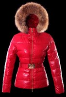 Wholesale blue fox hats for sale - Group buy Top quality Women Winter Jacket Ladies Real Fox Fur Collar Duck Down Inside Warm Coat Femme With Best Quality
