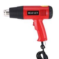 ingrosso vernice lcd-Electric Hot Air Heat Gun 866B 2000W digitale Fan a cristalli liquidi di temperatura regolabile Shrink sverniciatore della ripresa di fai da te Tool + ugello