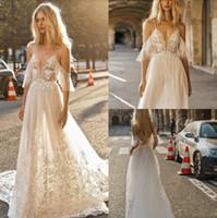 Wholesale plus size beach wedding dresses online - 2019 Beach Wedding Dresses Spaghetti Lace Appliques Illusion A Line Bohemian Wedding Dress Plus Size Boho Bridal Gowns
