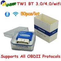 icar obdii elm327 venda por atacado-50PCS DHL TONWON TW1 BT 3.0 / 4.0 / wi-fi melhor do que Super Mini ELM327 OBD2 Car Ferramenta de diagnóstico ELM 327 OBDII Protocolo ICAR PRO