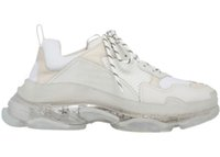 with box 2021 Mens and Womens Casual Shoes Triple S Clear Sole White Black Green Trainers 36-45