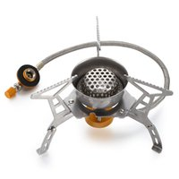 Wholesale plastic fields online - Outdoor Gas Stove Camping Gas burner Folding Electronic Stove hiking Portable Foldable picnic Split Stoves W with Storage Box