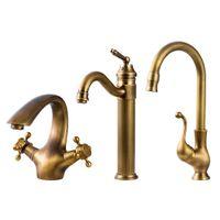 Wholesale antique kitchen handles for sale - Group buy Bathroom Faucet Antique bronze finish Brass Basin Sink Faucet Single Handle water taps kitchen