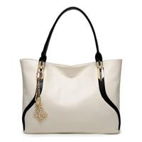 çanta dhl nakliye toptan satış-En kaliteli Avrupa ve Amerikan tarzı Ücretsiz Kargo DHL veya EMS Hakiki Deri Messenger çanta beyaz Çanta Kadın Klasik Omuz Çantaları