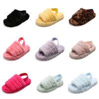 Wholesale plush slippers unicorn resale online - 2020 Fashion Cartoon Unicorn Flip Flops For Kids Summer Boy Girl Beach Slippers Children Summer Cute Slippers