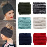 serre-tête achat en gros de-Tricoté Bandeaux Chapeaux Pour Les Femmes Hiver Chaud Crochet Stretch Twist Tête Bande Turban Cheveux Accessoires MMA2352