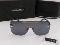 corrente de óculos de sol venda por atacado-Top Qualtiy Nova Moda UV 400 Caixa Original Proteção De Ouro Cadeia Tyga Medusa Óculos De Sol Dos Homens / Mulheres Óculos De Sol ve 5998 5015