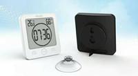 лучшие стенды оптовых-2019 горячая распродажа новый цифровой водонепроницаемый душ настенные часы часы лучший влажность температуры таймер оптовая продажа бесплатная доставка
