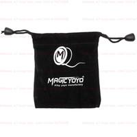 черный йойо оптовых-Бесплатная доставка Magic Yoyo Professional Йо-йо Глобал топ йо-йо аксессуары Профессиональная сумка Черный