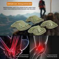Wholesale war game paintball resale online - 1 Pair Knee and Elbow Protection Set Tactical War Paintball Hunting Climbing Game Protector Wear Resistant Tough Safely