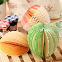 Wholesale paper sticky for sale - Group buy Stationery Sticky Note Lovely Fruit Modeling Notes Stickers Cartoon Creative Apple Shape Memo Paper New Arrival ll L1