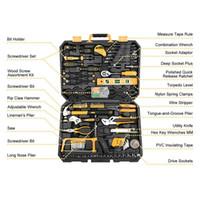 conjunto de kit de reparación de auto al por mayor-Kit de herramientas para mecánico Juego de auto Reparación de automóviles Llave Socket Caja de herramientas de 168 piezas W