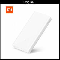 xiaomi tabletleri toptan satış-Orijinal Mi Xiaomi Güç Bankası 20000 mAh 2C Iki yönlü Hızlı Şarj QC3.0 5 V / 9 V / 12 V Telefon Tabletler için Çift USB Harici Pil