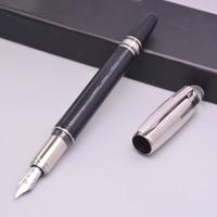 ingrosso pennini per penne stilografiche-Luxury Silver Checks mb-sw Germania Marca penna 4810 14k penna stilografica a stelo con numero di serie Crystal Top