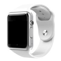 montre chaude téléphone achat en gros de-A1 Montre intelligente Bluetooth Smartwatch pour IOS iPhone Samsung Téléphone Android Horloge Intelligente Smartphone Sport Montres Vente Chaude