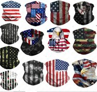 Wholesale mask wind protection resale online - 3D American National Flag Printing Face Mask Bandana Breathable Half Face Masks Scarf Headband Cycling UV Dust Wind Protection Mask D52707