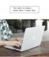 teclado de macbook retina al por mayor-Nueva funda para computadora portátil mate + protector de pantalla (regalo) + cubierta de teclado (regalo) para Macbook Pro Retina Air Touch Bar 11 12 13 15 pulgadas A2159