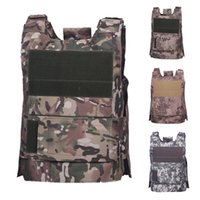 Wholesale equipment clothing for sale - Group buy Unloading Vest Tactical Combat Vest Army Molle Paintball Equipment Protective Hunting Camouflage Clothing