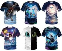 t-shirt à manches longues dragon achat en gros de-Mode Dessin Animé Sans Dent 3D T-shirt Dragon Master Imprimé À Manches Courtes Tshirt Hommes Femmes Unisexe D'été Tops Casual T-shirts, Plus La Taille S-3XL