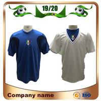 camiseta copa mundial de fútbol italia al por mayor-2006 Copa del Mundo Italia Retro Edition camisetas de fútbol Gattuso Cannavaro Del Piero Toni Totti Materazzi camiseta de fútbol 06 Italia uniforme de fútbol