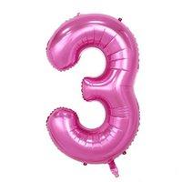 bons eventos venda por atacado-32 Polegada Folha De Hélio Air Balão Número boa qualidade rosa Inflável Balões de Casamento de Aniversário Decoração do Partido Do Evento fornecedores