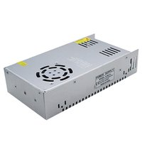 Wholesale power adapter 24v led strip for sale - Group buy DC V W LED Strip Driver Power Adapter A Metal Switch Power Supply AC110V V to V Transformer Power with Fan