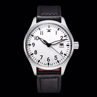 Wholesale leather watch straps pilot for sale - Group buy Classic Pilot Mark Automatic Mechanical Movement Wristwatch MM Dial Little Prince Back Cover Leather Strap Fashion Mens Watch