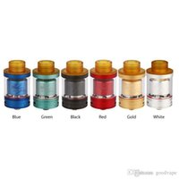 Wholesale clone dog resale online - Newest Desire Mad Dog GTA RTA Replaceable Atomizers D air inlet directing to coil PEI drip tip Easy top filling High quality Clone