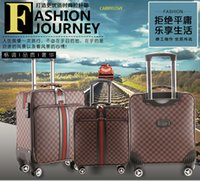 Wholesale travel rolling luggage resale online - CARRYLOVE Classic fashion high quality inch Creativity PVC Rolling Luggage Spinner brand Travel Suitcase